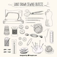 vector sewing needle and thread, Hd, Vector, Clothing Design PNG and Vector Sewing Art, Hand Sewing, Sewing Crafts, Sewing Projects, Doodle Icon, Doodle Art, Doodles, Bullet Journal Inspiration, Grafik Design