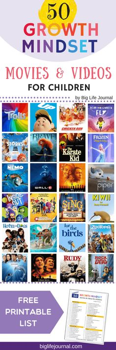 Top 50 Growth Mindset Movies for Children – Big Life Journal