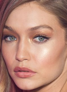 Close-up of Gigi Hadid at the 2016 Victoria's Secret Fashion Show After-Party.