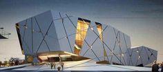 New Wave Architecture (Lida Almassian / Shahin Heidari) / Iran . click picture for Cultural Architecture, Auditorium Architecture, Auditorium Design, Architecture Design, Library Architecture, Facade Design, Concept Architecture, Futuristic Architecture, Amazing Architecture