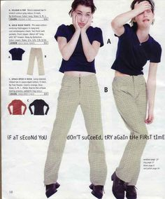 "Because ""hip huggers"" were these awesome new types of pants. 17 Reasons Why The Fall Delia's Catalog Was Everything To You 90s Teen Fashion, Early 2000s Fashion, Retro Fashion, Vintage Fashion, Fashion Outfits, Fashion Tips, Fashion Design, Modest Fashion, Winter Fashion"