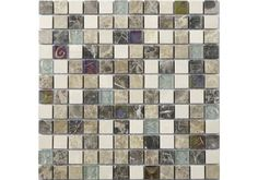 Tumbled Empredor Mix Marble & Glass Mosaic is hand crafted and perfect for giving a Light to Mid look in any bathroom or kitchen.