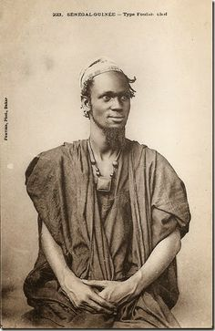 """Fulani chief"" circa 1900, photographer Edmond Fortier."