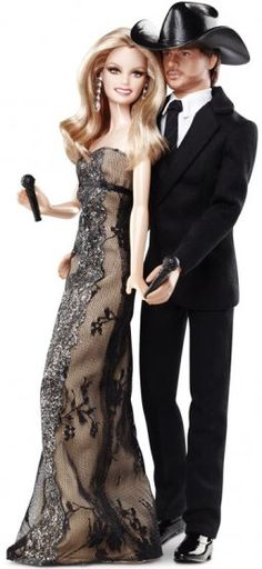 Faith Hill & Tim McGraw Barbies.
