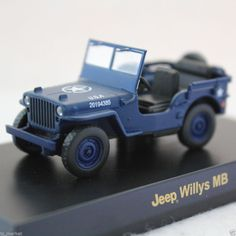 KYOSHO USA SPORTS CAR MINICAR COLLACTION 2 JEEP WILLYS MB BLUE 1/64 JAPAN #Kyosho #Jeep