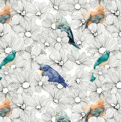 Bird Pattern by Clara McAllister, via Behance