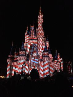CInderella Castle during Mickey's Very Merry Christmas Party! #MickeysVeryMerryChristmasParty!