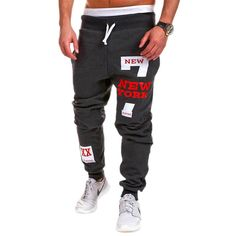 New York City Mens Sweatpants tapered bottoms urban lucky seven gym joggers cott