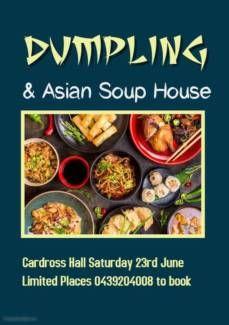 Dumpling & Asian Soup Kitchen at Cardross Hall Asian Soup, Soup Kitchen, Dumpling, Events, City, Breakfast, Places, Food, Essen