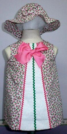 Vestido para bebe estampado rosa vstd076