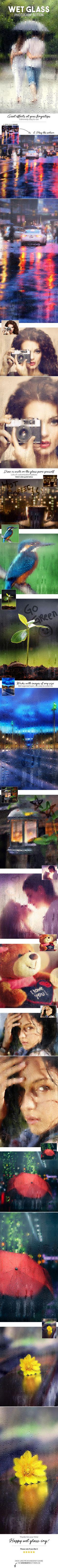 Wet Glass Photoshop Action. Download here: https://graphicriver.net/item/wet-glass-photoshop-action/17358079?ref=ksioks