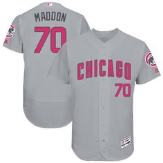 Cubs #70 Joe Maddon Grey Flexbase Authentic Collection Mother's Day Stitched MLB Jersey