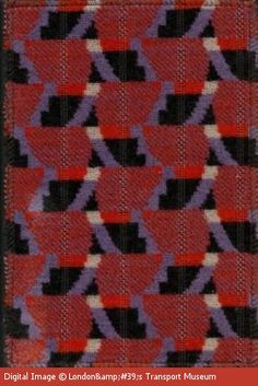 Upholstered seat cover as used on the refurbished circle for Fabric with trains pattern