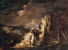 Salvator Rosa: Paesaggio con soldati e cacciatori -