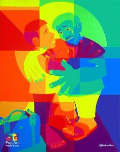 Pop Art Fredo Lima: POP  ART - Acrílico sobre tela – Técnica Irisar