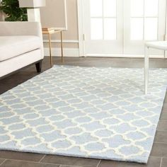 Safavieh Cambridge Light Blue/Ivory 5 ft. x 8 ft. Area Rug - CAM130A-5 at The Home Depot