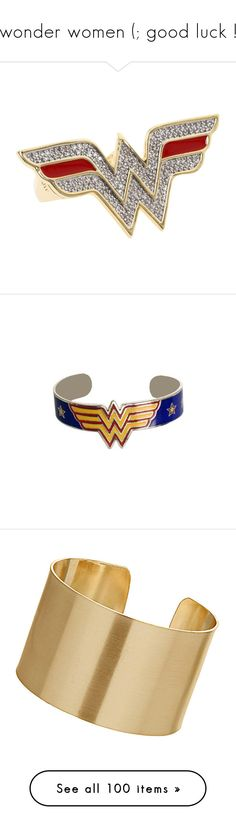 """""""wonder women (; good luck !"""" by liat555 ❤ liked on Polyvore featuring jewelry, rings, accessories, wonder woman, women's jewelry, wide rings, gold jewelry, yellow gold rings, knuckle ring and gold ring"""