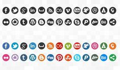 round-social-media-icons