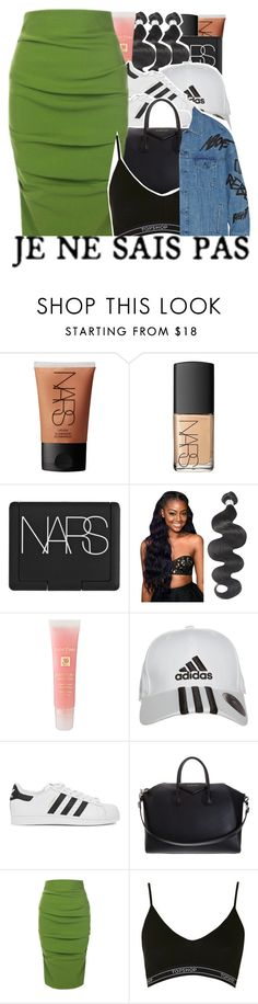 """""""06-23-2016."""" by trillestqueen ❤ liked on Polyvore featuring NARS Cosmetics, Lancôme, adidas, adidas Originals, Givenchy, La Petite Salope, Topshop and Julien David"""