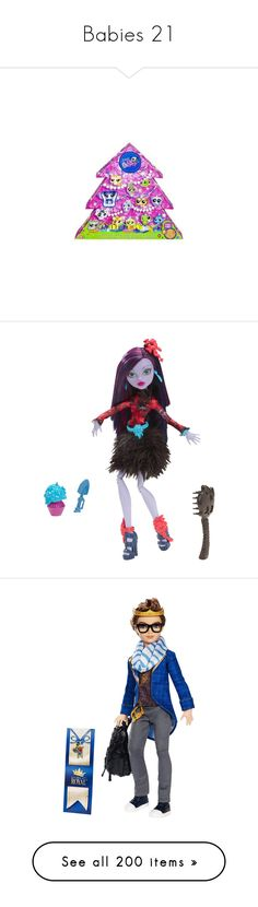 """""""Babies 21"""" by masanichka ❤ liked on Polyvore featuring toys, ever after high, dolls, monster high, home, children's room, children's bedding, barbie, kids toys and kid stuff"""