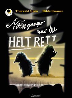 Farefull ferd for to små pinnsvin. Spennende og søt bildebok av Thorvald Steen og Hilde Kramer.