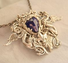 Gothic Necklace by DesignsBloom    Want it so freaking much it's not funny