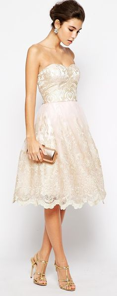 the perfect rehearsal dinner dress! http://rstyle.me/n/v8t9in2bn | short wedding dress