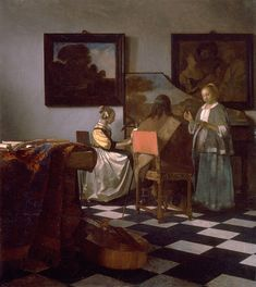 "This is a painting of Johannes Vermeer entitled ""The Concert"" which has been stolen from the Isabella Stewart Gardner Museum."