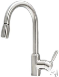 """Blanco 441762 Single Lever Pull-Down Kitchen Faucet with 8 1/2"""" Reach, 1.5 GPM Flow Rate, Solid Brass Construction, Ceramic Disc Cartridge and ADA Compliant: Stainless Steel"""