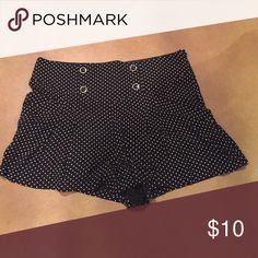 Polka dot shorts Looks like a skirt but it's shorts! Super cute on! Purchase from Dillard's and only worn once! Shorts