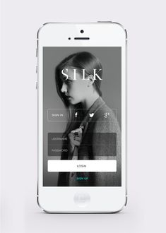 Silk App - Log In Screen by Afdzal Ahmad
