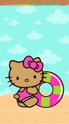#digitalcutewalls Hello Kitty Iphone Wallpaper, Hello Kitty Backgrounds, Holiday Wallpaper, Summer Wallpaper, Wallpaper Stickers, Wallpaper Backgrounds, Hello Kitty Tattoos, Pochacco, Hello Kitty Pictures