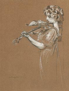 Buy art object : The Violinist Film Music Books, Art Music, Trois Crayons, Amber Tree, Art Object, Female Art, Amazing Art, Buy Art, Cool Art
