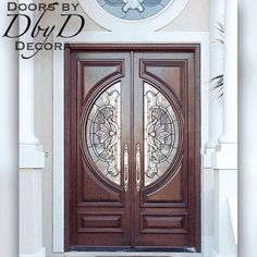 These custom Contemporary double doors with glass feature custom leaded glass designed for these doors. Let us help you design your contemporary doors! Entry Doors With Glass, Wood Entry Doors, Entrance Doors, Wooden Doors, Glass Door, Contemporary Building, Contemporary Doors, Contemporary Apartment, Contemporary Chandelier