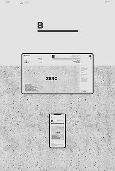 Zerøline — web on Behance Minimal Web Design, Flat Design, Web Layout, Layout Design, Page Design, Book Design, Title Block, Design Responsive, Typo Poster