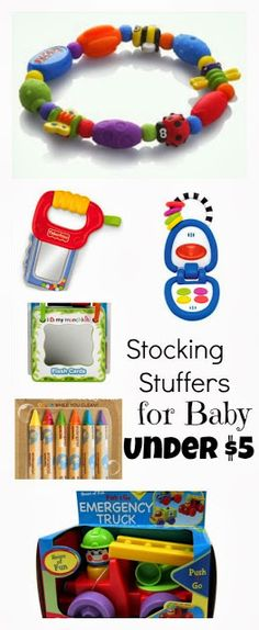 Stocking Stuffers for Baby - under $5 #christmas #shopping #Stockingstufer