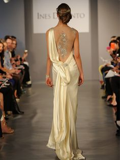 Ines-DiSanto Spring 2014 Sexy Back Wedding Gown Top Wedding Dresses, Wedding Dress Accessories, Wedding Dress Trends, Wedding Dressses, Designer Wedding Gowns, Designer Dresses, Beautiful Gowns, Beautiful Outfits, Gorgeous Dress