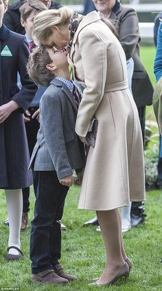 Sophie Wessex has banned her eight-year-old son, pictured together at the races on Decembe...