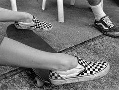 checkered vans. Yep I had to have some. I got them in a soft pink checker. Still wear them.