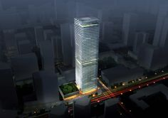 """Massimiliano and Doriana Fuksas won the """"International Schematic Design Competition of Shenzhen Guosen Securities Tower"""" Tue , 2 November 2010 The project. Revit Architecture, Contemporary Architecture, Schematic Design, Sky Garden, Scenic Design, Design Competitions, Shenzhen, Facade, Multi Story Building"""