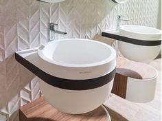 Round wall-mounted Krion® washbasin ARO | Wall-mounted washbasin - Systempool
