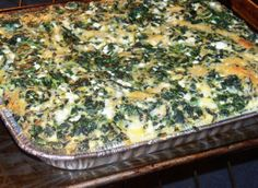 Spinach casserole. Amazing. (wonder if I could use ricotta instead of cottage cheese?)