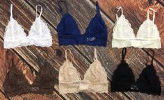 This bralette is lace with adjustable straps.