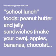 """""""school lunch"""" foods: peanut butter and jelly sandwiches (make your own), apples, bananas, chocolate chip cookies, juice boxes, and snack-size bags of chips.  After our picnic and book reading, we became scientists.  a game of """"Pin Ms. Frizzle on the Bus Door"""". Using a large picture of a school bus, and pictures of Ms. Frizzle,"""