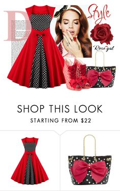 """""""Rosegal"""" by es-primavera ❤ liked on Polyvore featuring Betsey Johnson, Sophia Webster and vintage"""