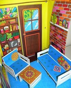 Vintage 1969 Barbie Country Living Home Furniture