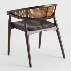 Espresso Brown Cane Back Randall Armchair Set of 2 Art Deco Furniture, Luxury Furniture, Furniture Design, Cane Furniture, Modern Furniture, Cafe Industrial, Rattan Dining Chairs, Lounge Chairs, Room Chairs