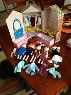Madeline dolls! I used to have all of these! I played with them for hours! Memories...