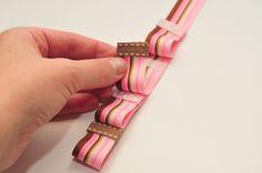 Headband and hair clip ribbon organizer