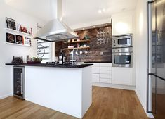 Kitchen Island, Room, Design, Inspiration, Home Decor, Brown Walls, Contemporary Kitchens, Stone Walls, Decorating Kitchen